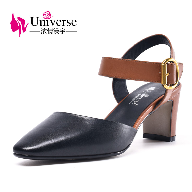 2018 <strong>Heel</strong> Women Mid Block Ladies Summer Shoes
