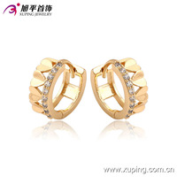 Xuping jewelry design ring type 18K Gold Plated hoop heart-shaped Earrings