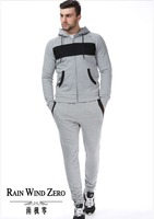 Wholesale sportswear outdoor plain sweat suits ,mens tracksuits ,gym sports mens suits 2016