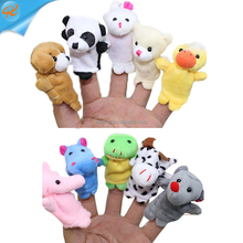 Spot wholesale plush toys cartoon animals family finger parent-child interactive finger puppets toys
