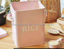 LFGB Metal Storage Box Rice Container with a scoop Multifunctional Canister