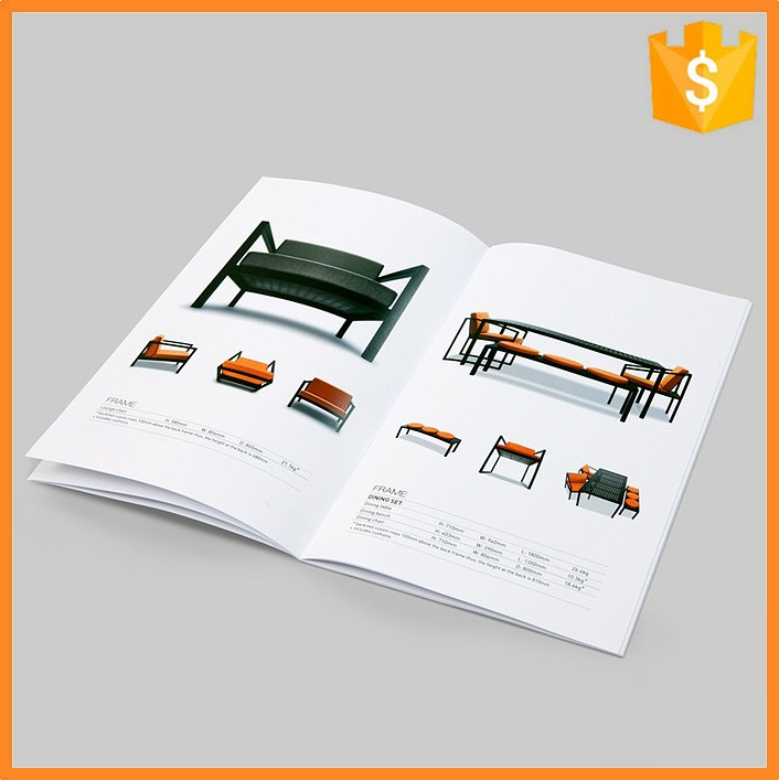 Custom made full color household items furniture brochure design