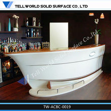 2013 hot sale acrylic solid surface pub bar counter