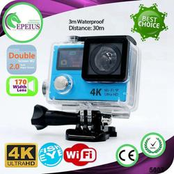 TOP SALES H3 WIFI 4K full hd 1080p action camera 2.0 INCH SCREEN SPORT CAM
