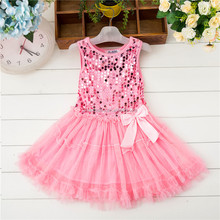 Hot sale <strong>girl's</strong> pink sequins <strong>dress</strong>, cake princess <strong>dress</strong> for baby party