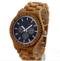 Multifunctional 2017 vogue custom wood wrist watch, wholesale wood watch with quartz movement
