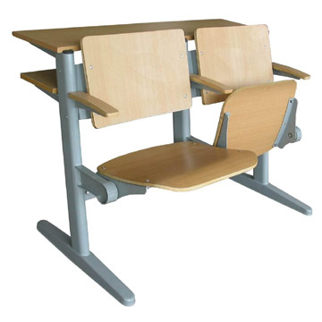 modern fixed School Desk And Chair made in China by UE