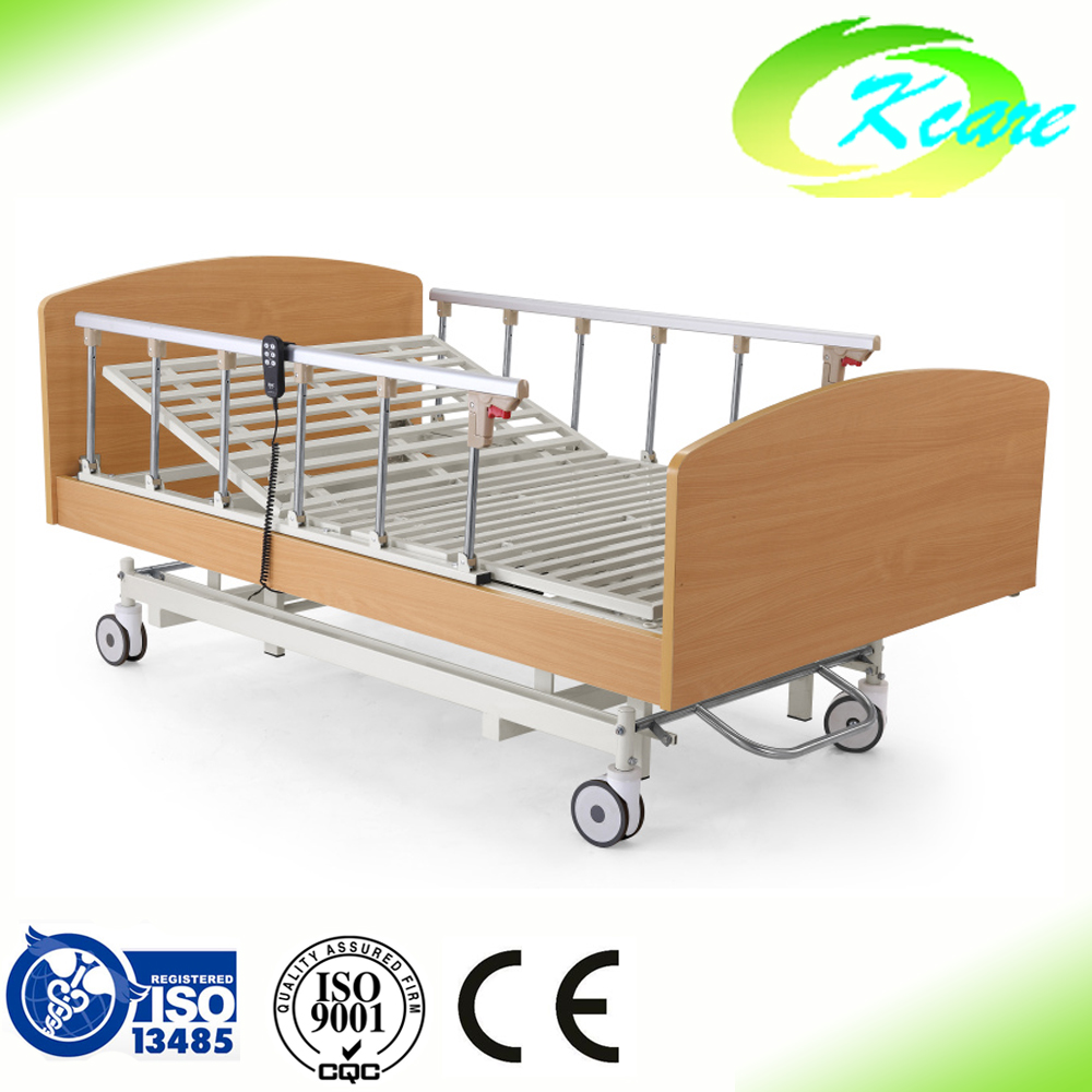 Wooden electric 3 functions hospital beds for home use