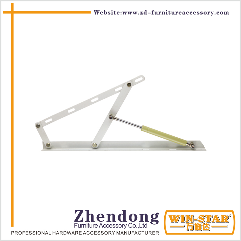 Heavy Duty White Gas Spring Bed Lid Stay For Storage ZD-I014