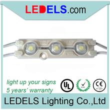 CE ROHS 12V 0.72W Everlight SMD 2835 3 led module sign lights channel letters china waterproof