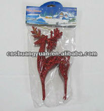 Red Plastic Christmas Decoration/Xmas Sika Deer