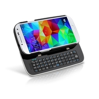 Plastic Protective Case with Sliding Bluetooth Keyboard for Samsung Galaxy S5