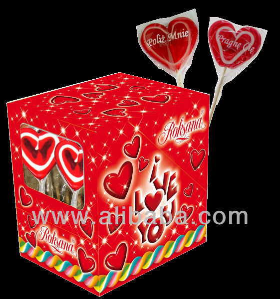 Hard Candy Lollipops 60g heart shape Valentine edition