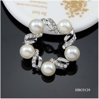 2015 quality plated wholesale star shaped pearl brooches