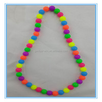 colorful bead silicone necklace