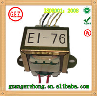EI 76 series 30.0va to 50.0va transformer 200v 110v