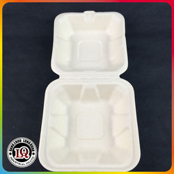Disposable Biodegradable Bagasse Pulp Container To Go
