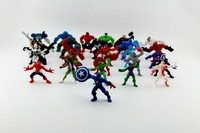 free shipping wholesale 1000pcs promotional toy Justice League Christmas gift action figure super hero mini toys for kids