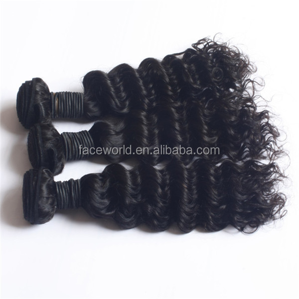 Most popular in america deep wave style human hair weave for black women