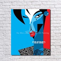 Hot sex women picture abstract figure pop art painting modern for decorating modern living room
