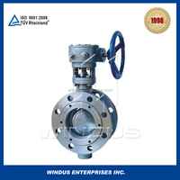 China high performs Double Flanged Eccentric Rubber Seated Butterfly Valve