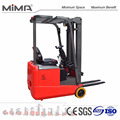 MIMA 3-wheel high capacity battery counter balance forklift