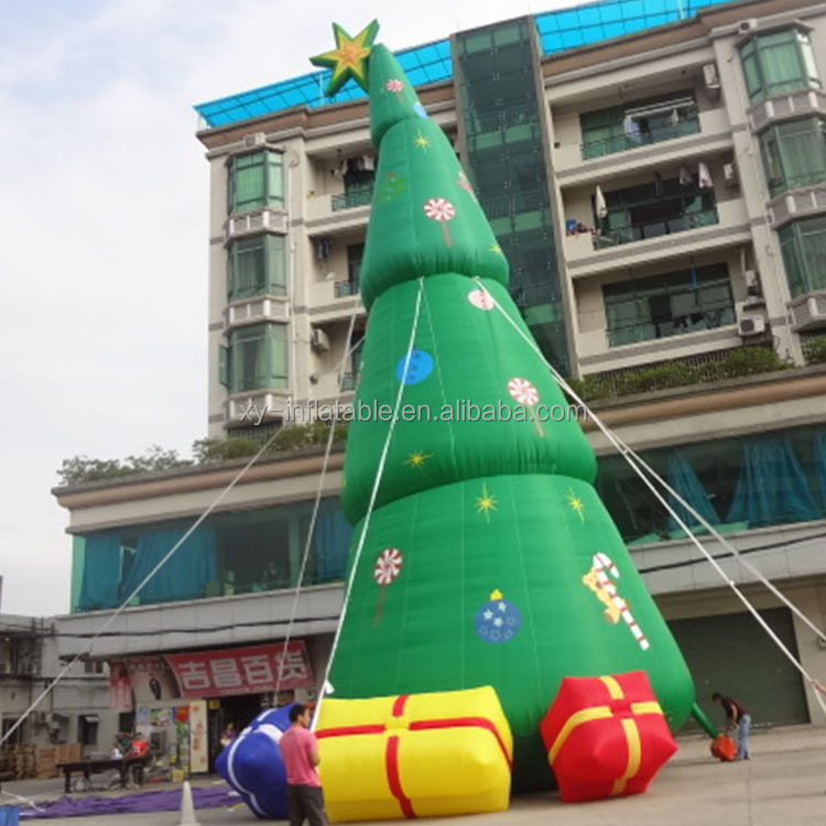 Christmas decoration high inflatable christmas tree with gifts