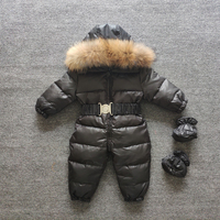 -15 Russian Winter Snowsuit 2019 Boy Baby Jacket 80% Duck Down Outdoor Infant Clothes Girls Climbing For Girl Kids Jumpsuit 1~4
