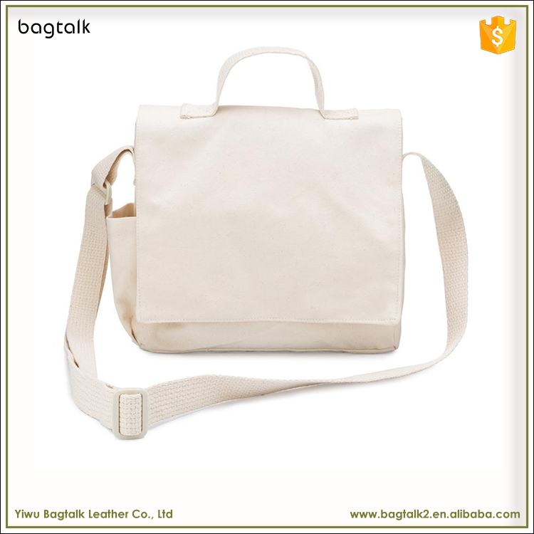 1CB0010 Wholesale High Quality White Blank Canvas Crossbody Messenger Tote Bag For Women And Men