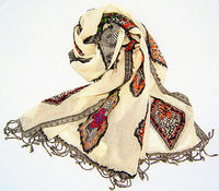 2012/2013 Merino wool embroidery scarf