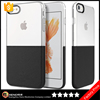 Keno Wholesale Hybrid Half Transparent Soft TPU + Half Hard PC Protective Mobile Phone Accessories Case for iPhone 7