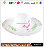 Promotion ladies floppy straw beach hat custom ladies paper straw hats