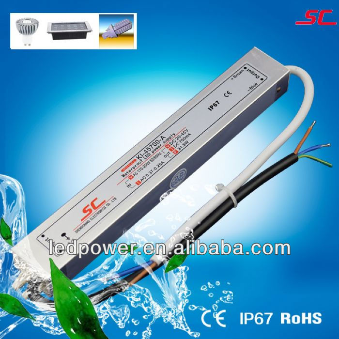 KI-45700-A 30W 700MA IP67 Constant Curretn power supplies for led driving