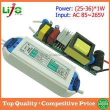 25W to 36w constant current 300ma led driver with plastic cover for all kind of led light