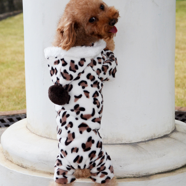 Wholesale 2016 new winter fashion pet dog clothing Leopard sweater
