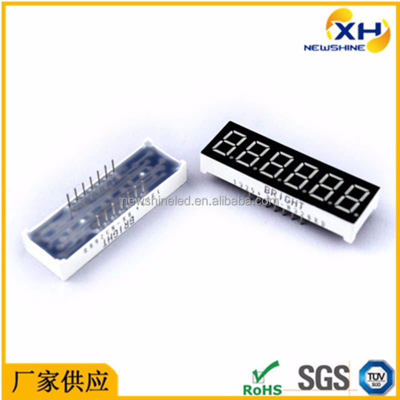 Good quality 6 digit 7 segment led display 0.36 inch led digital display for electric appliance and advertising price showing