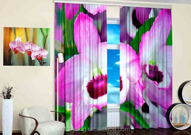 3d black out window curtain/specification blind curtain/cheap window curtains