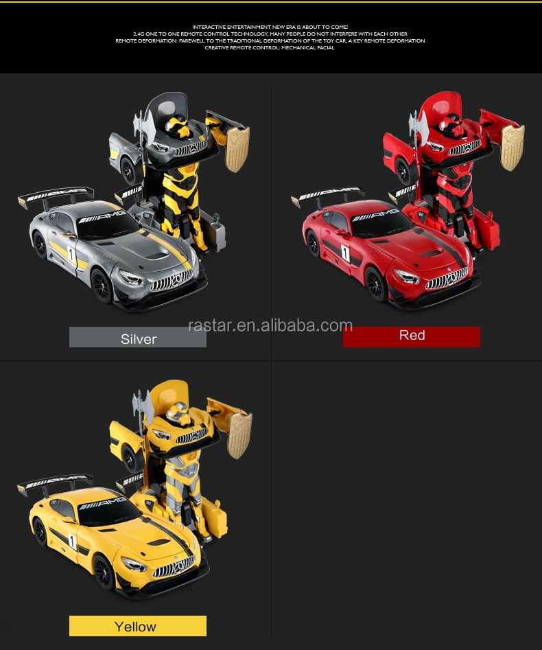 Rastar transform robot kids toy rc 1:14 scale car with sounds