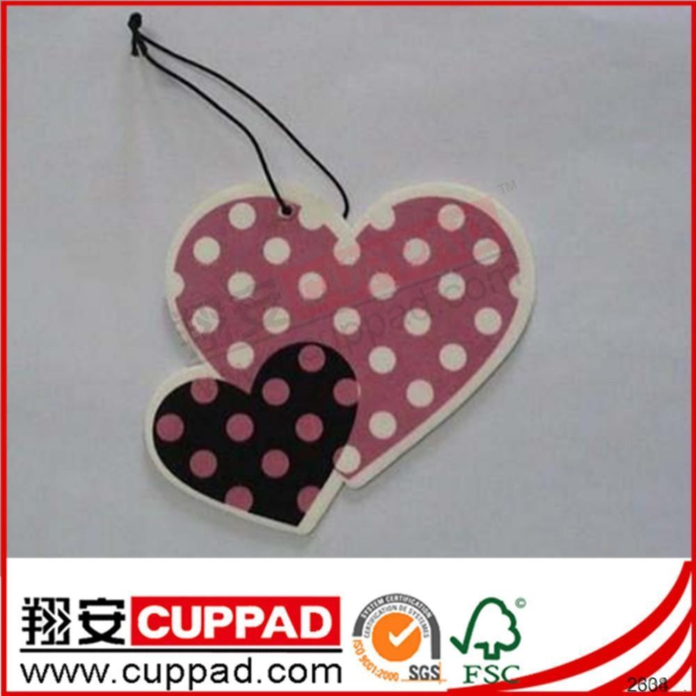 New design heart shape car air freshener for decoration