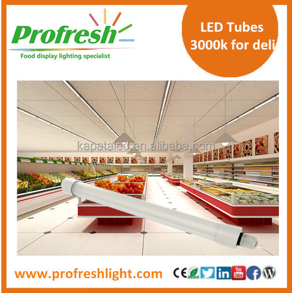 3000k t8 tubes for deli cases t8 tube fitting with 3 years warranty