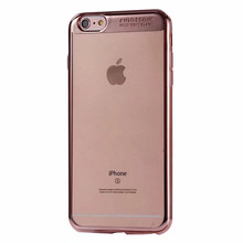 crystal clear soft tpu back case for iPhone 6 PLus 6S Plus ,electroplating mobile phone shell