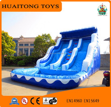 double gaint inflatable water slide children inflatable pool with slide