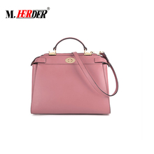 Boom Business Choice For Bag OEM Factory Genuine Leather Lady Handbag