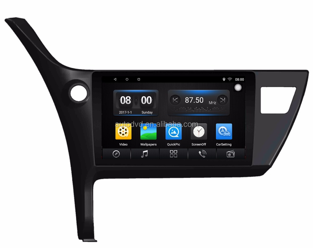 For Toyo Ta Corolla 2017 Car Android GPS Navigation Radio Audio Video Multimedia System