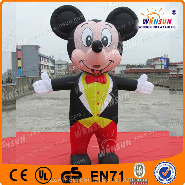 2015 popular mickey and minnie mascot costume for promotion