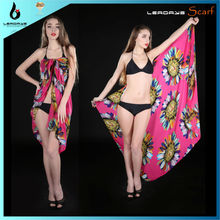 polyester beach pareo promotional sarongs
