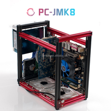PC-JMK8 New Product ATX MATX Aluminum PC Case for Computer Case with Display