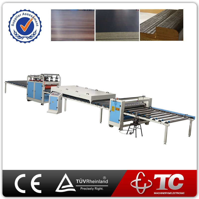 aluminium foil paper mdf hot melt roll laminating machine