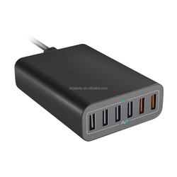 Multi-Port USB Charger for iPhone 6S 60W 6-Port USB Charging Hub