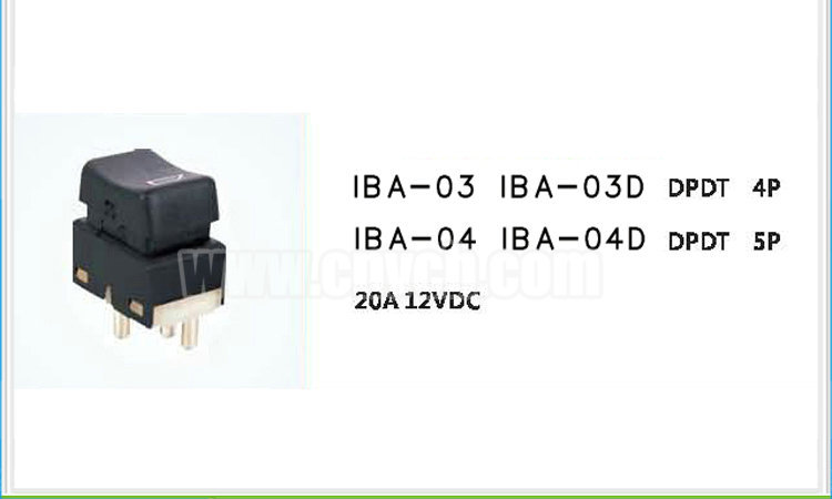 AS03 CE Rohs Automotive switch with lamp IBA-03 20A 12VDC DPDT 4P or 5P Power Window Switches